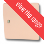 Flat Plate Bright Copper TV, Phone & Satellite Sockets